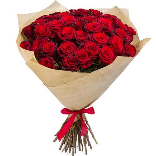фото букета 35 красных роз