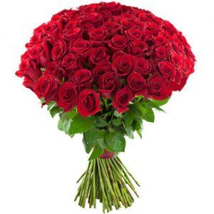 фото букета 75 красных роз