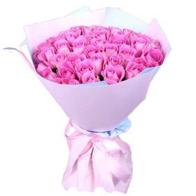 букет 35 роза аква фото
