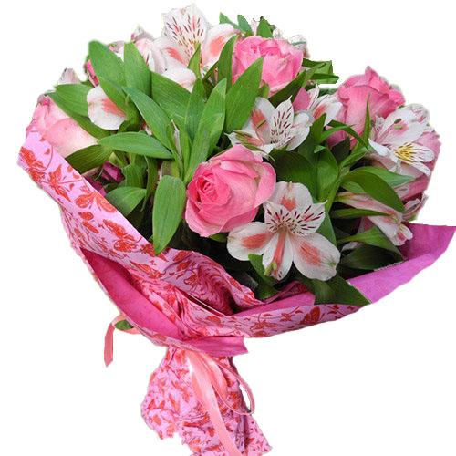 Розовый цвет микс цветов