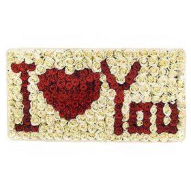 Букет «Я люблю тебя» 301 роза картинка