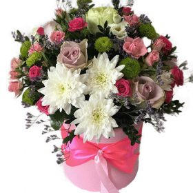 фото Коробка «Нежность» микс цветов