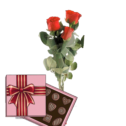 Фото товара 3 красные розы с конфетами в Житомире