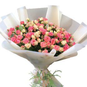 фото букета 33 кустовые розы