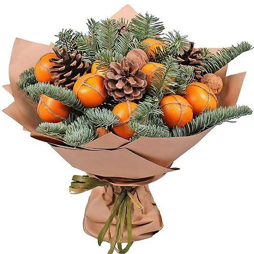Фото товара Новогодний букет с мандаринами в Житомире