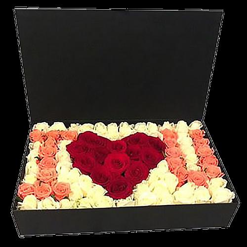 "Фото товара 101 роза в коробке ""I love you"" в Житомире"