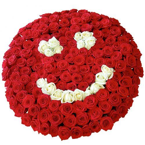 """Фото товара 201 роза """"Смайлик"""" в Житомире"""