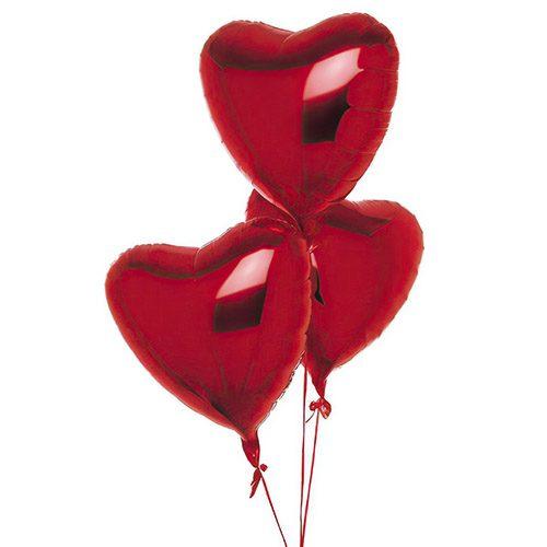Фото товара 3 фольгированных шарика в форме сердца в Житомире
