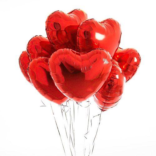 Фото товара Воздушные шарики латексные в форме сердца поштучно в Житомире