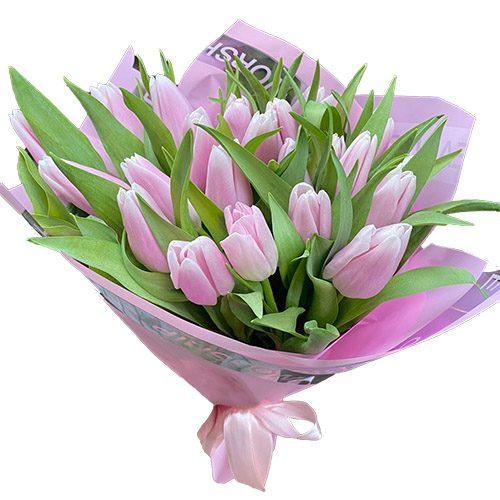 Фото товара 21 нежно-розовый тюльпан в Житомире