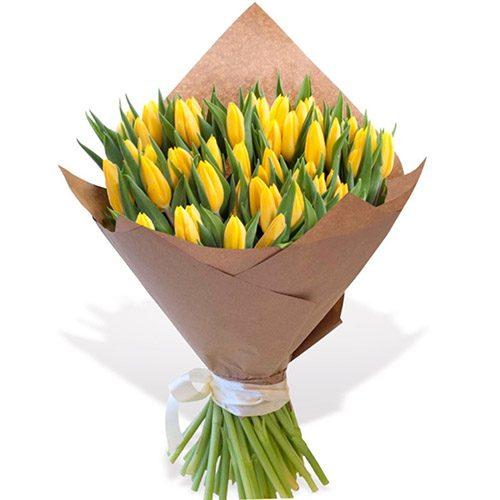 """Фото товара 45 жёлтых тюльпанов """"Золотое руно"""" в Житомире"""