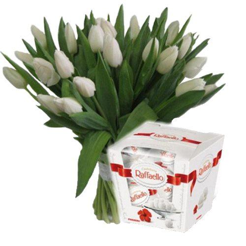 """Фото товара 21 тюльпан и """"Raffaello"""" в Житомире"""