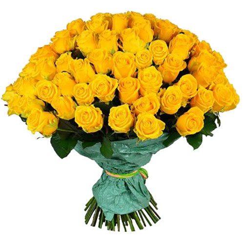 Фото товара 101 желтая роза в Житомире