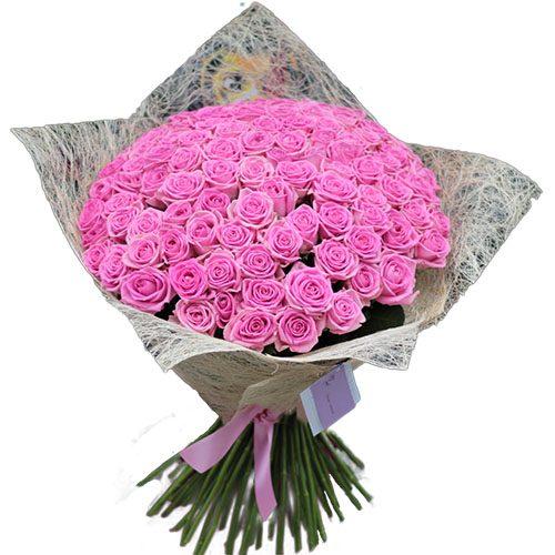 """Фото товара 101 роза """"Аква"""" в Житомире"""