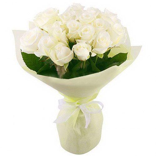 Фото товара 19 белых роз в Житомире