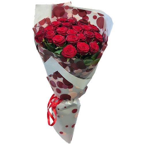 Фото товара 21 красная роза в Житомире
