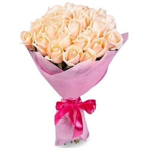 Фото товара 25 кремовых роз в Житомире