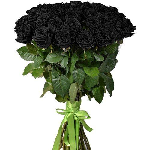 Фото товара 25 черных роз в Житомире