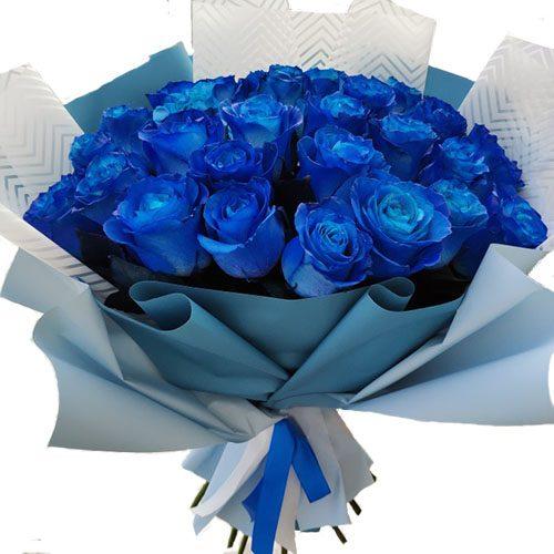 Фото товара 33 синие розы в Житомире