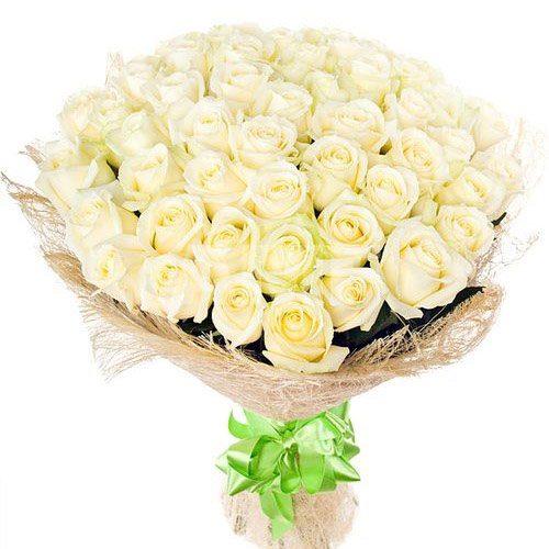 Фото товара 51 белая роза в Житомире
