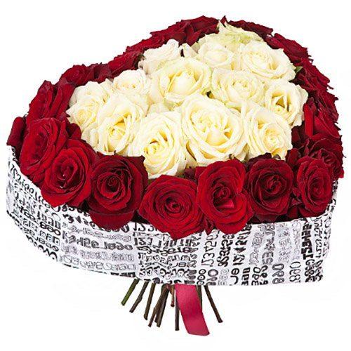 Фото товара 51 роза сердцем в Житомире