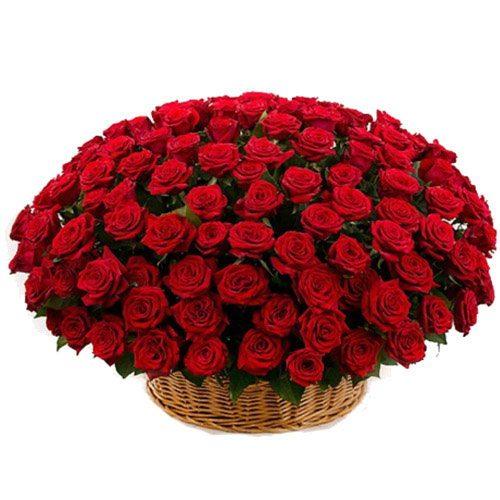 Фото товара Корзина 101 красная роза в Житомире