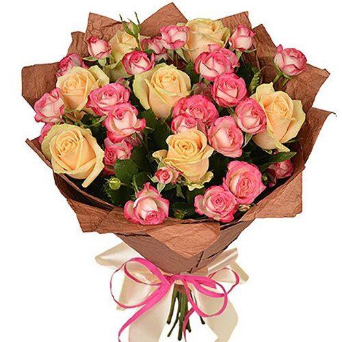 Фото товара Кремовая роза и спрей в Житомире