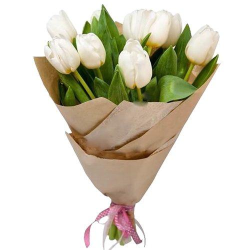 Фото товара 11 белых тюльпанов в Житомире