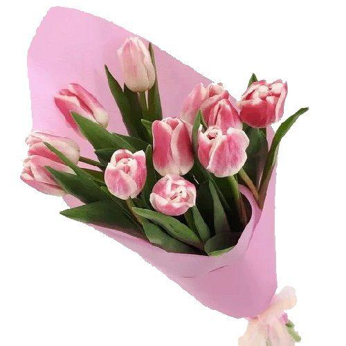 Фото товара 11 розовых тюльпанов в Житомире