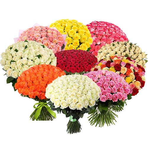 Фото товара Букет 1001 роза разных сортов в Житомире