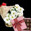 Фото товара 3 хризантемы с конфетами в Житомире