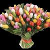 Фото товара 101 разноцветный тюльпан в Житомире