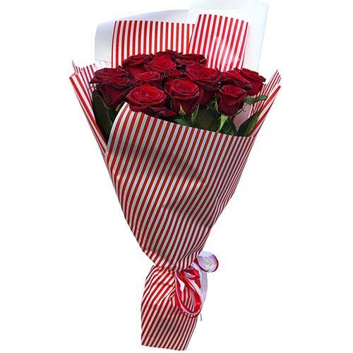 Фото товара 15 красных роз в Житомире