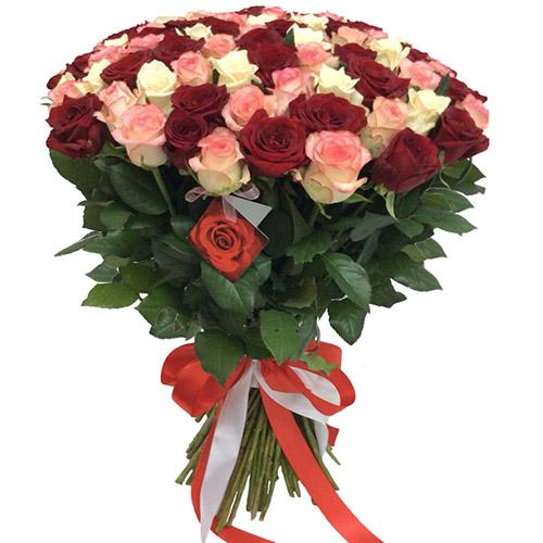 """Фото товара 101 роза """"Розовый жемчуг"""" в Житомире"""