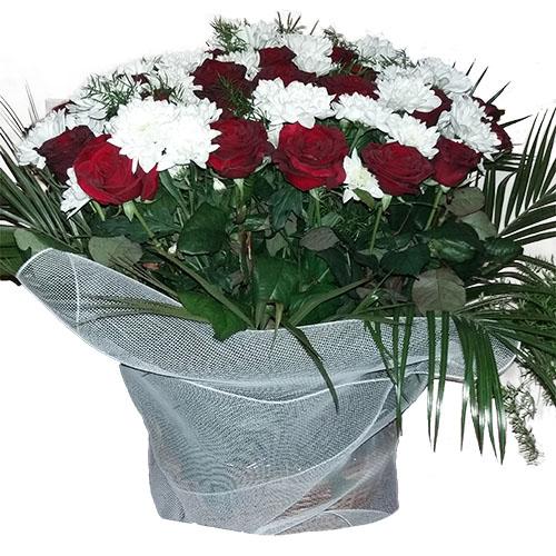 """Фото товара Корзина """"Цветы и вуаль"""" в Житомире"""