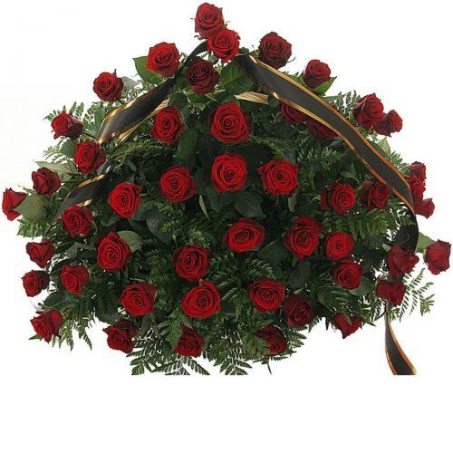 Фото товара 70 красных роз в корзине в Житомире