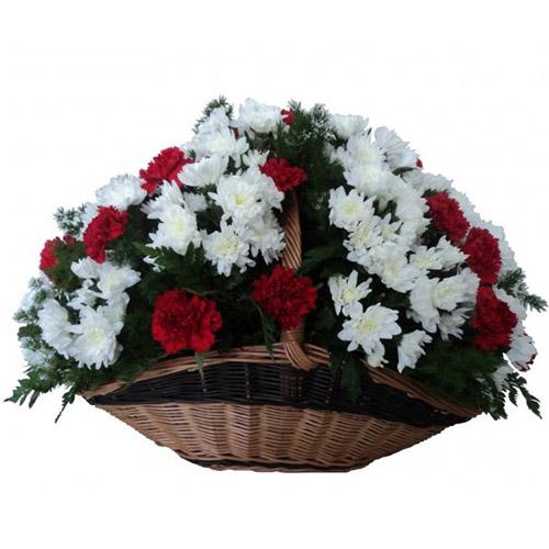 """Фото товара Хризантемы и гвоздики """"Дань памяти"""" в Житомире"""