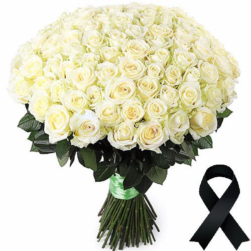 Фото товара 100 белых роз в Житомире