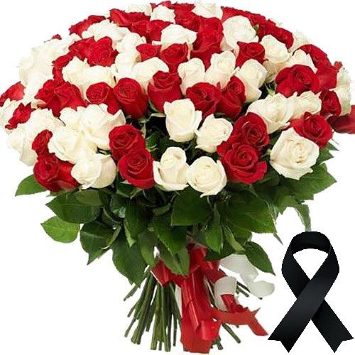 Фото товара 100 красно-белых роз в Житомире