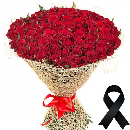 Фото товара 100 красных роз в Житомире