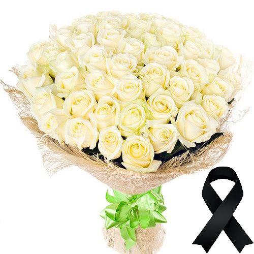 Фото товара 50 белых роз в Житомире